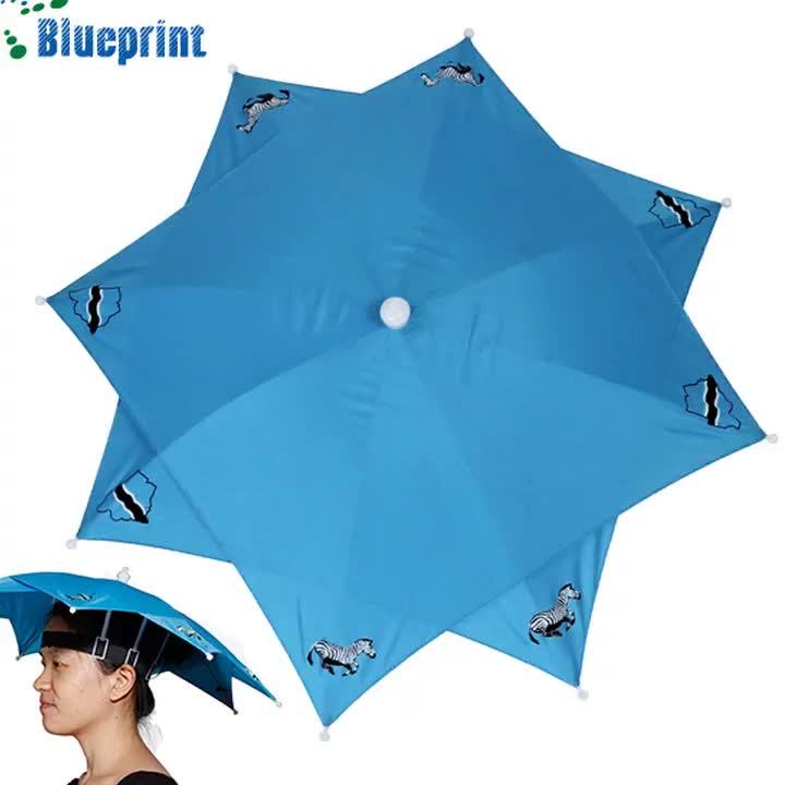 Vuelos de anuncios plegable Mini calor paraguas para la cabeza UV portátil