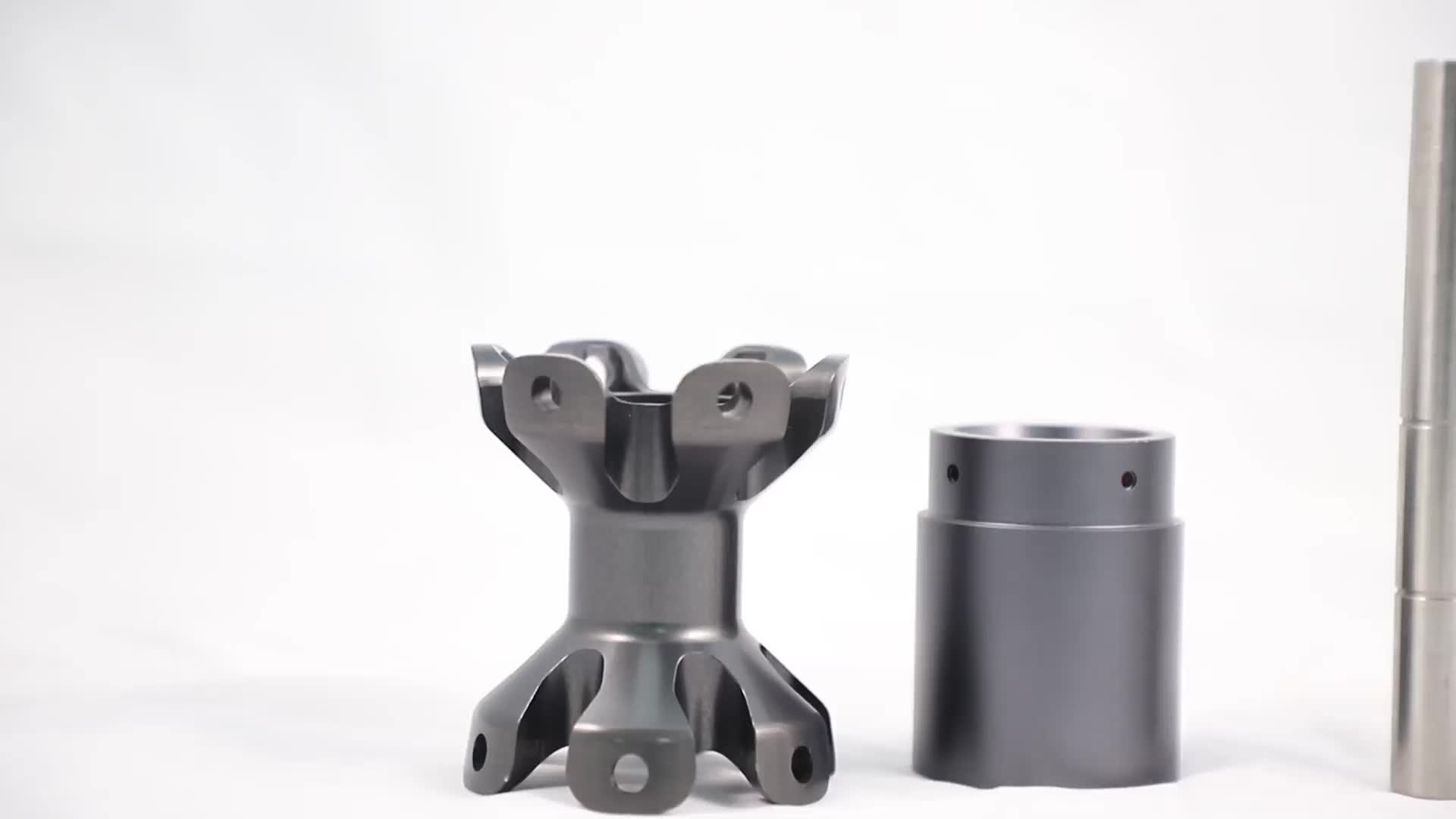5 Axis CNC Machining Flower-like Black Anodized Surface 6061 Aluminum Bicycle Hubs parts