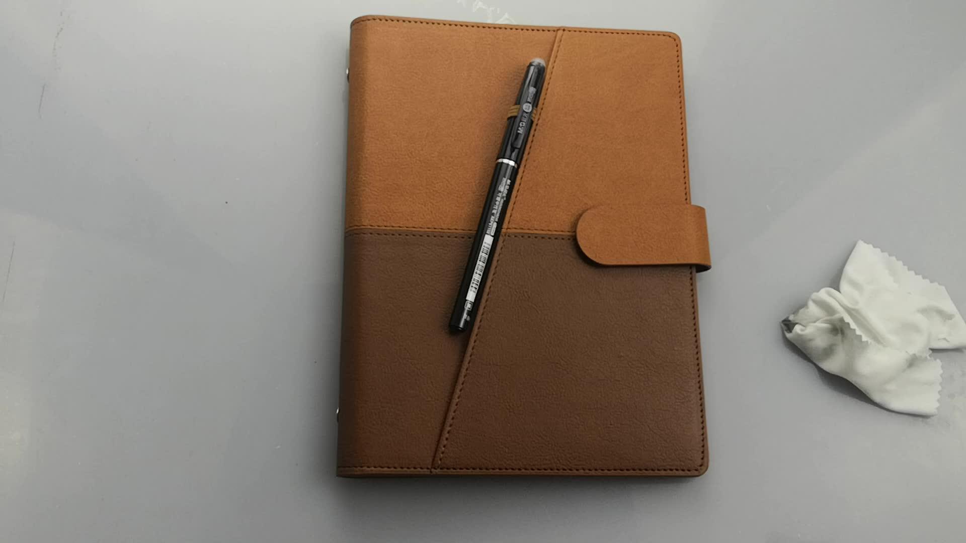 Newyes A5 หนังสือ Reusable Erasable โน้ตบุ๊คหนังไดอารี่ Office Smart Planner โลโก้