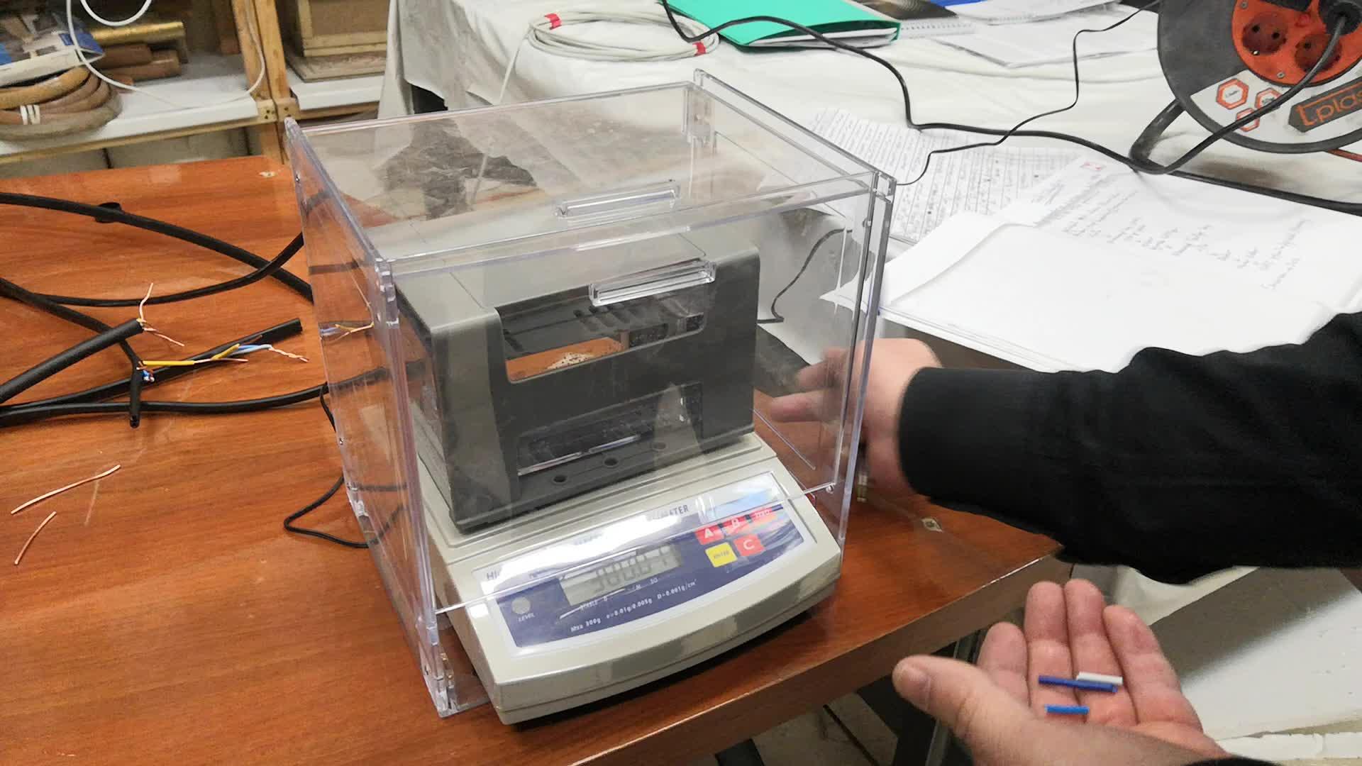 Oro densímetro prueba de pureza de la máquina