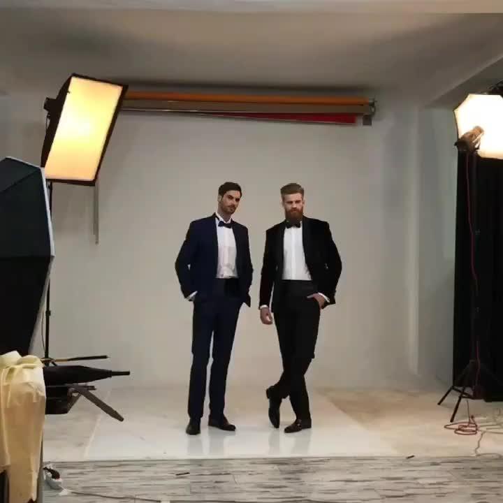 Desain Italia Fashion Pria Kemeja Custom Made Kasual Slim Fit Kemeja
