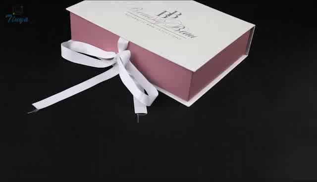 custom hair extension boxes white logo printed wholesale