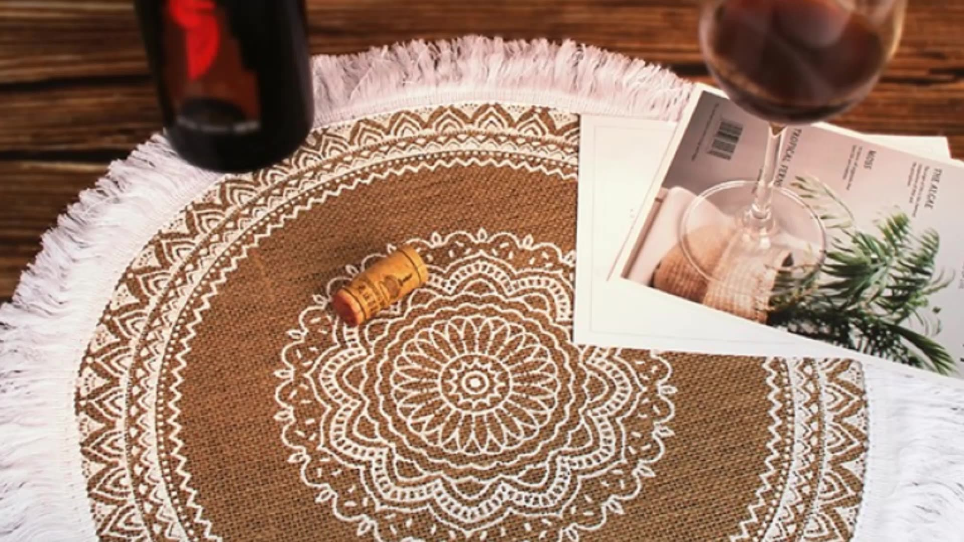 Hot sale placemat decorative woven round table mat with high performance