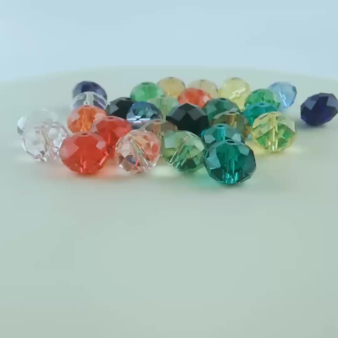 10 Strands/Lot 2-12 미리메터 Orange Yellow Crystal 론델 스페이서 Beads 대 한 보석 만들기 Diy Beads