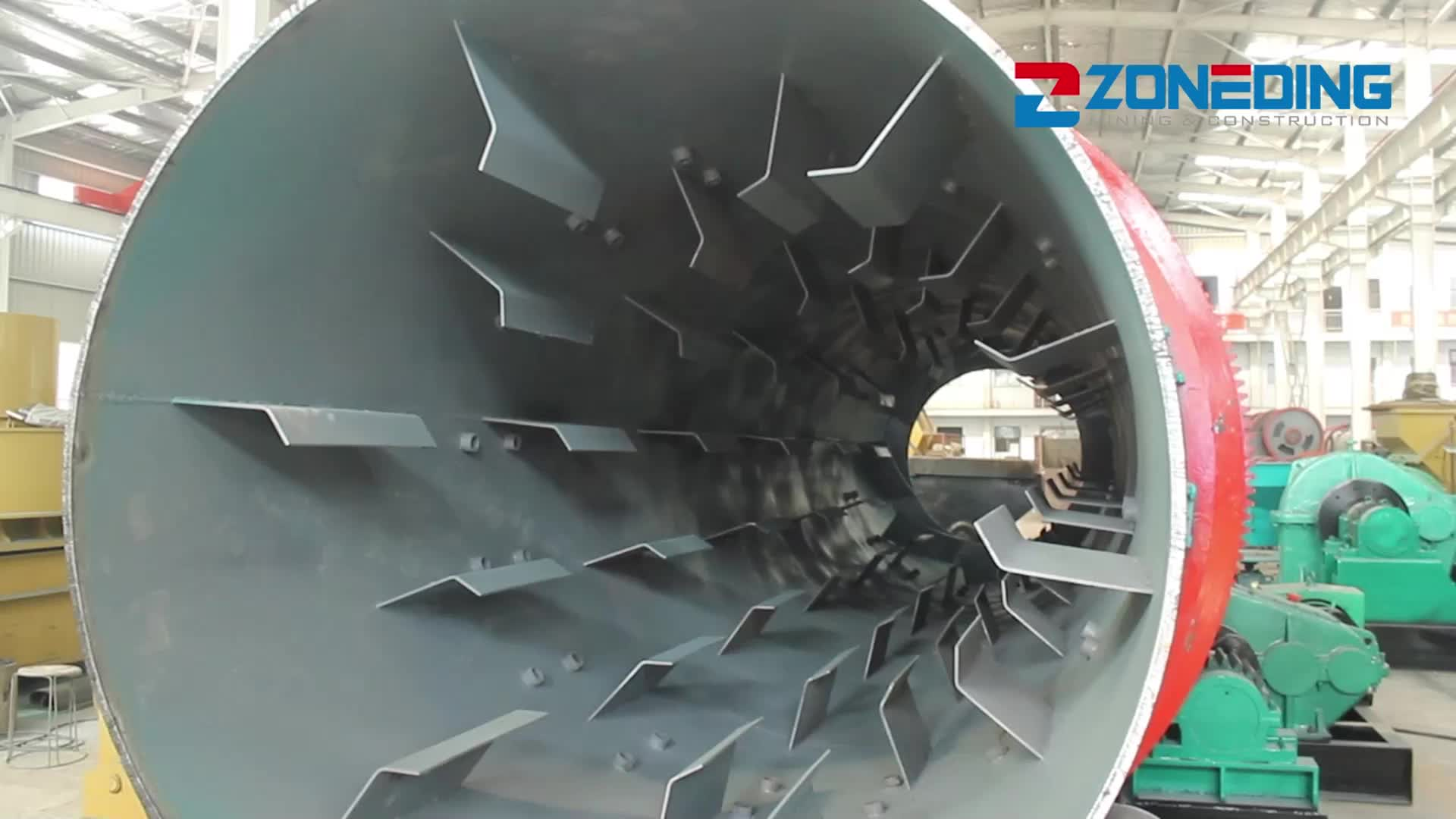 Different Capacity Industrial Cement Rotary Drum Dryer Rotary Dryer Price
