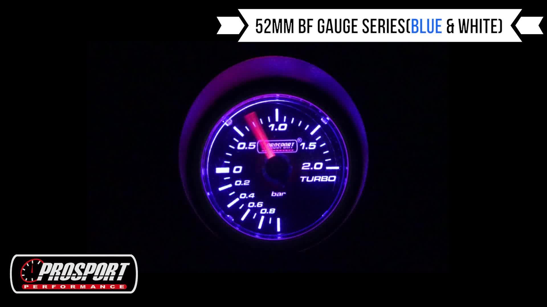 52mm Màu Xanh Trắng LED Giá Rẻ Áp Lực Diesel Máy Đo Boost Meter Đối Với Xe