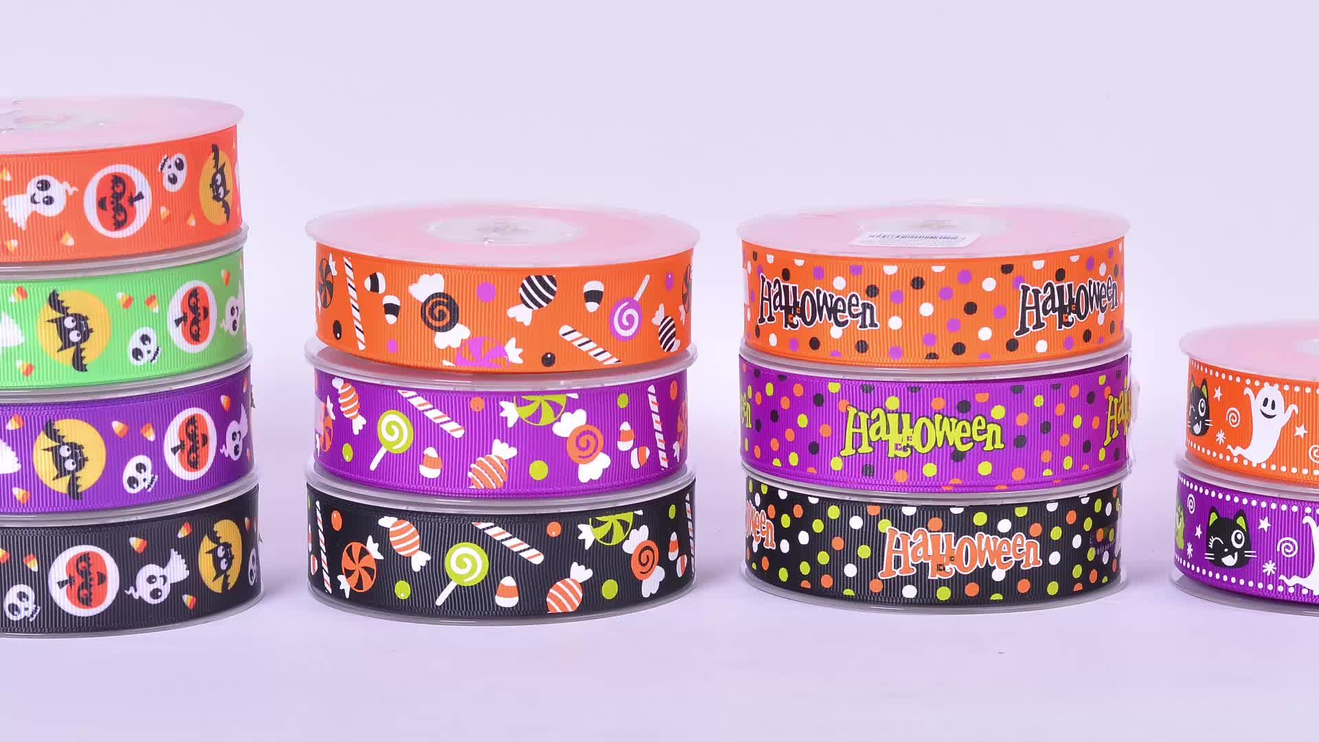 High quality orange color reusable grosgrain celebrate ribbon for gift