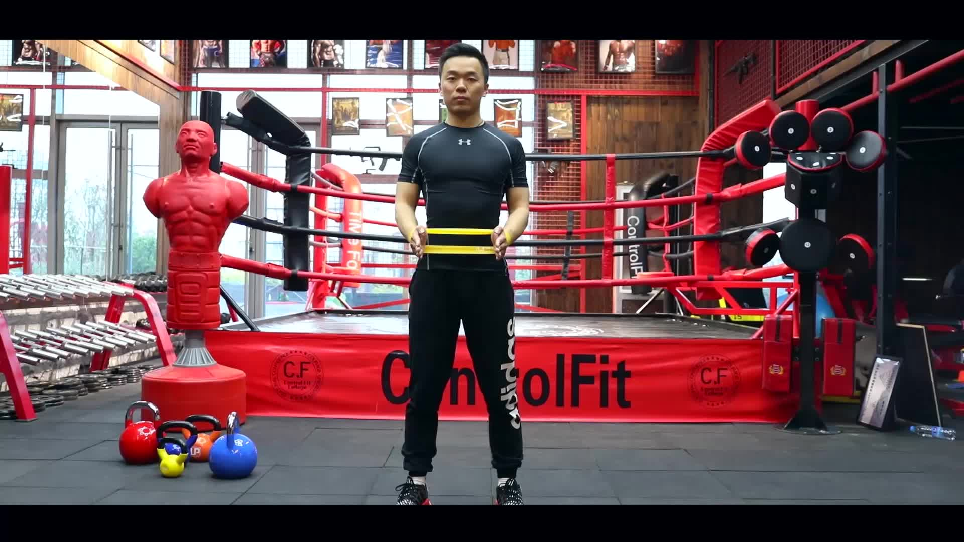 Changzhou U-powex milieuvriendelijk bedrukt logo elastische rubber weerstand bands gymnastiek fitness set