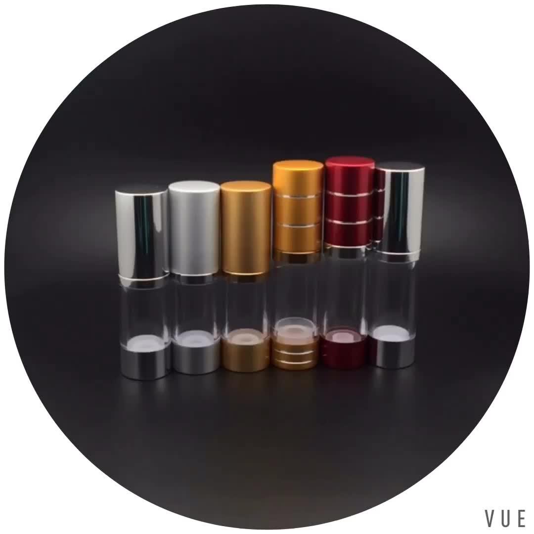 Pumpe weiß 10ml 15ml 30ml 50ml Airless-Parfüm-Serumflasche aus Acryl