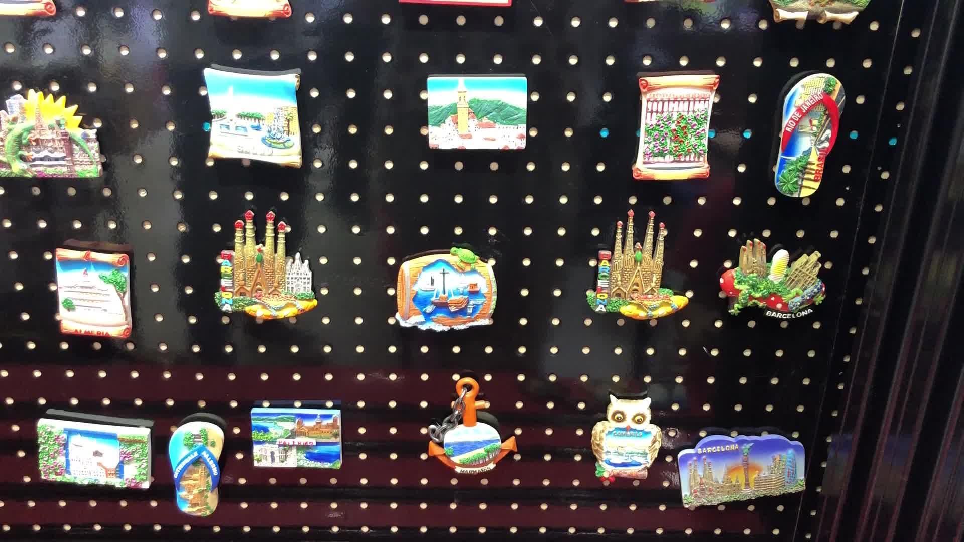 Custom Cipro Turistico 3D Magnete del Frigorifero Della Resina Film Frigorifero Magnete