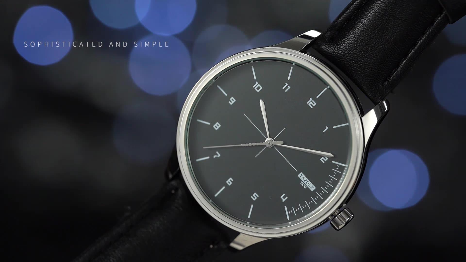 YAZOLE Z 502 Hot sale China Factory Wholesale Simple Mens watch with custom logo reloj quality quartz watches leather wristwatch
