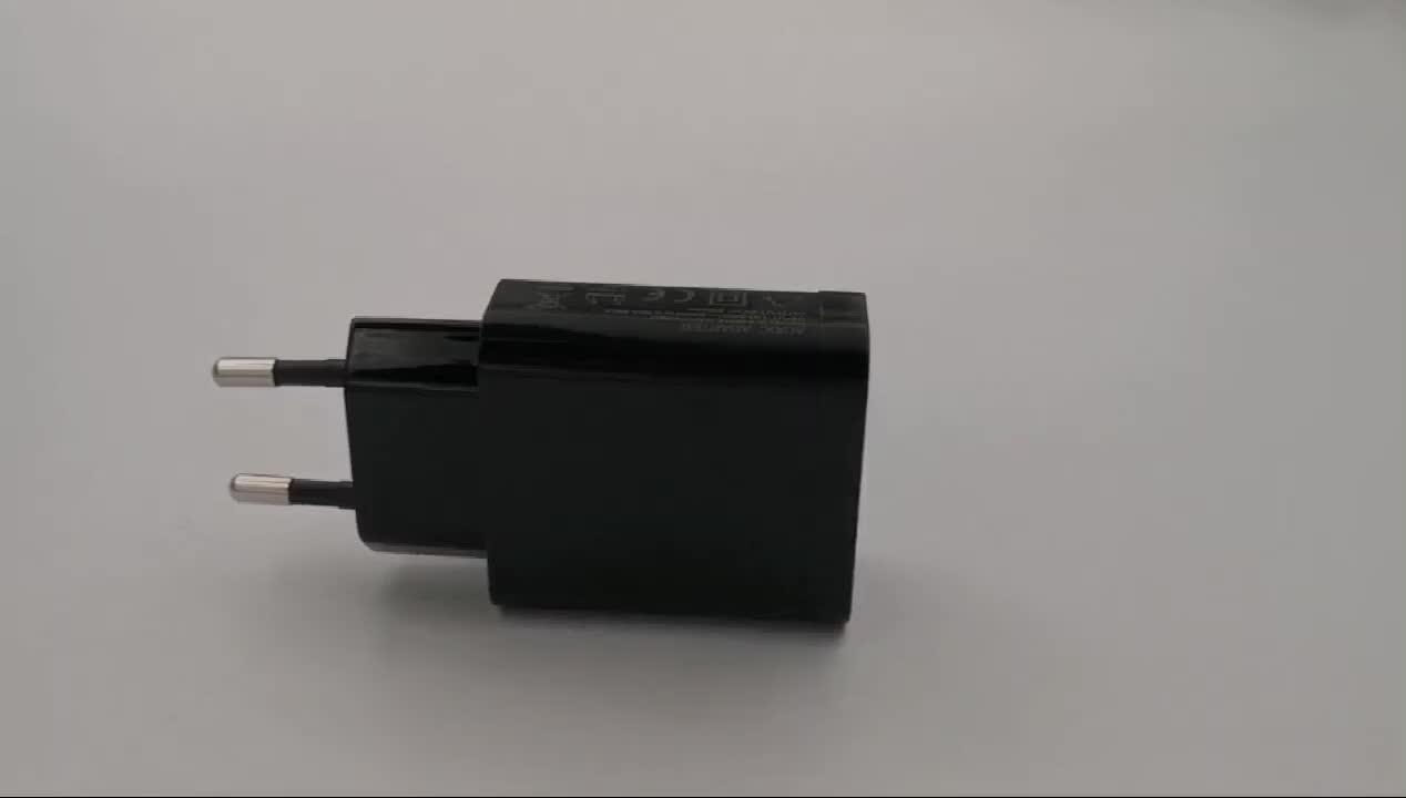 CE उल सूचीबद्ध क्वालकॉम जल्दी चार्ज 3.0 दीवार अभियोक्ता मोबाइल फोन का उपयोग तेजी चार्जर त्वरित चार्जर