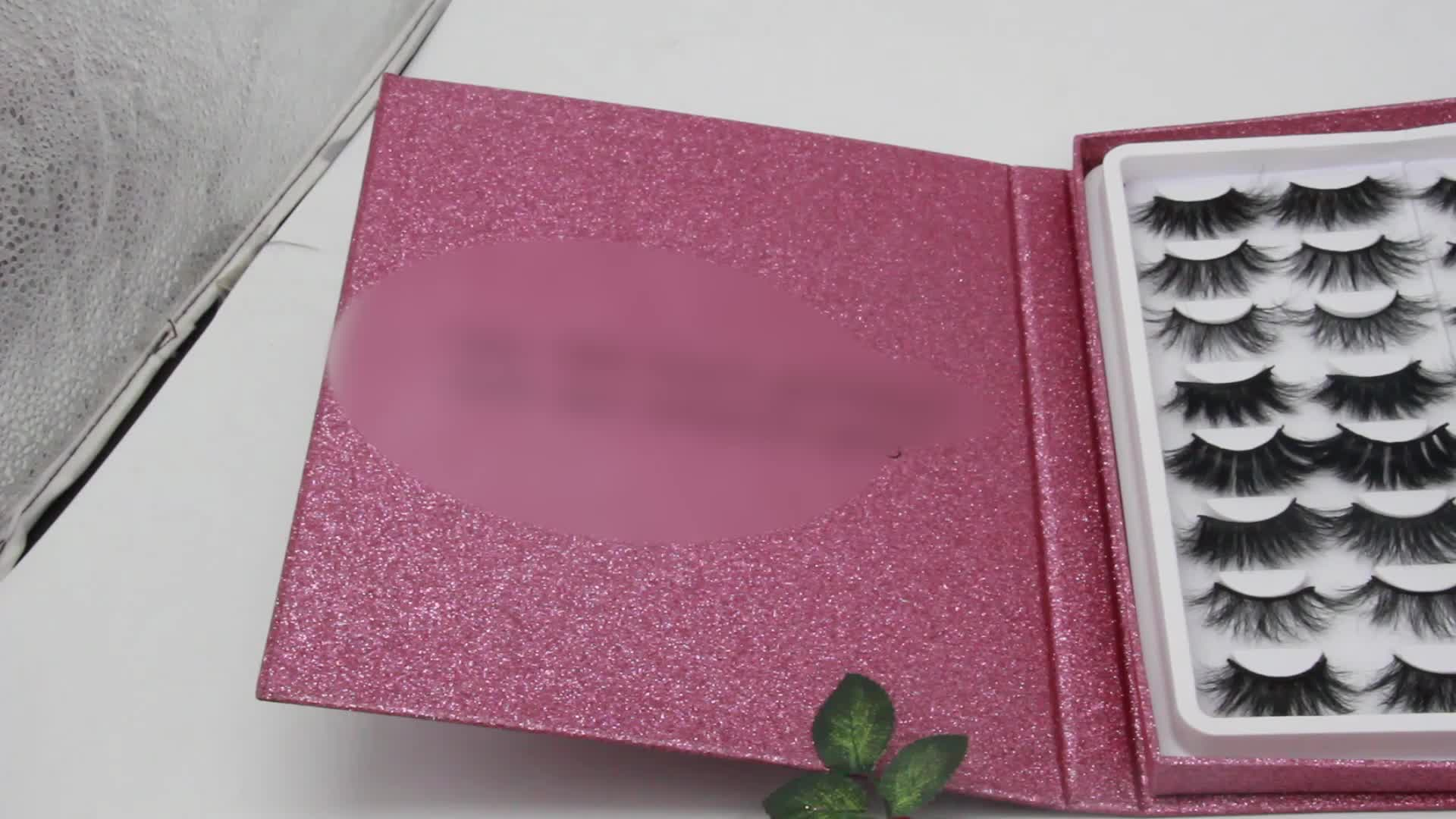 Private Label 3D норки ресниц книга Ложные ресниц книга Пользовательские вышивка крестом пакет ресниц книга с ресницами