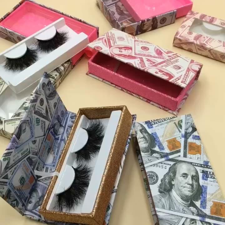 Wholesale 100% Real Mink Eyelashes with Custom Lash Box Eyelash Packaging