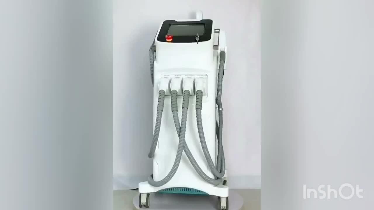 Diodo laser 808 + q interruttore laser + elight ipl shr + RF 4 in 1 macchina di bellezza/laser macchina di rimozione dei capelli