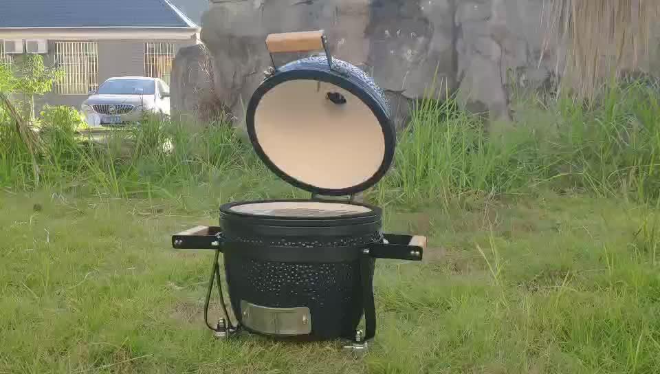 Kamado Auplex Nuovo 14 Pollice Trolley Mini BBQ Ceramica Grill