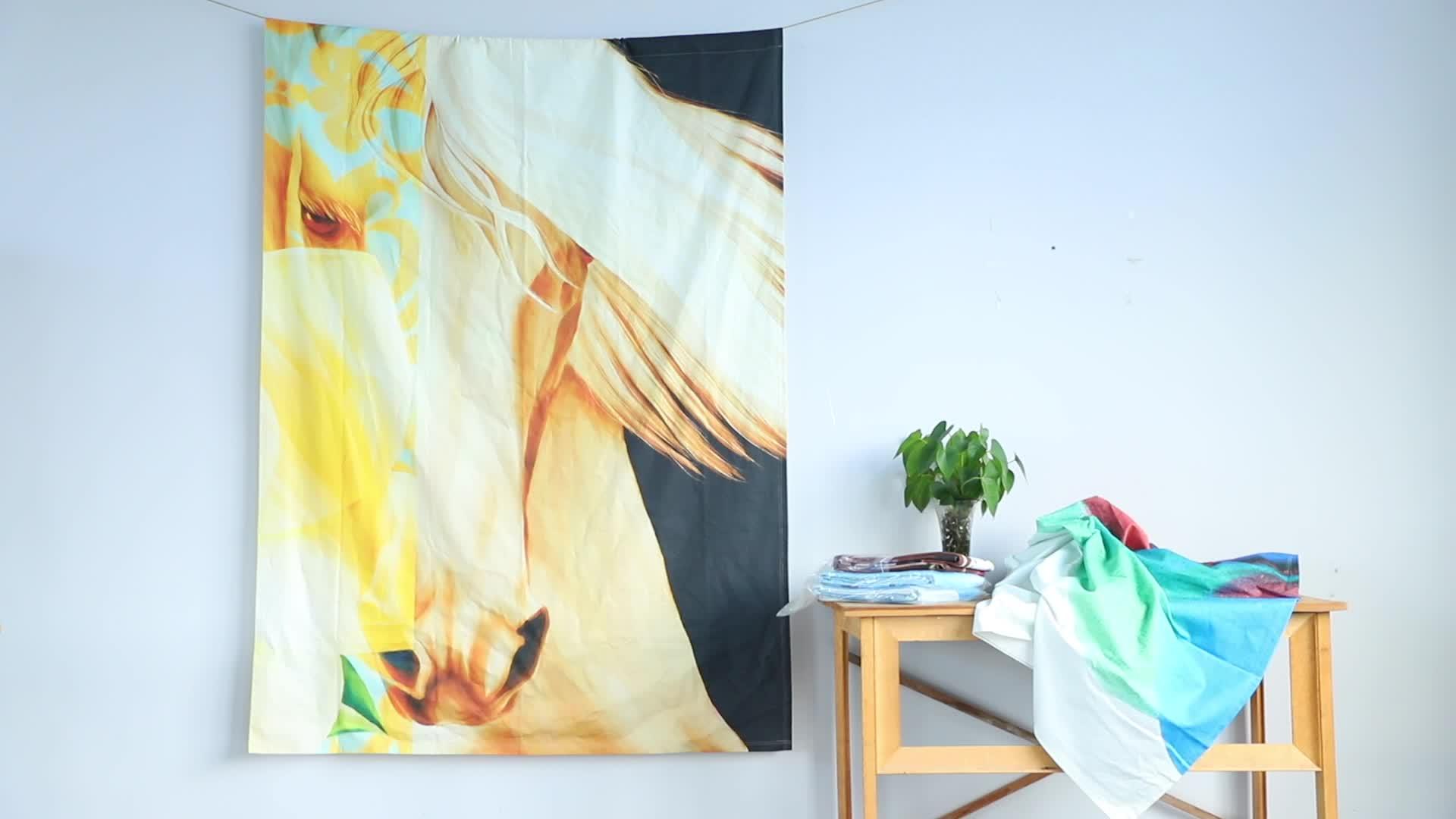 Décoration nordique maison sur mesure moderne pur coton tentures murales tapisserie