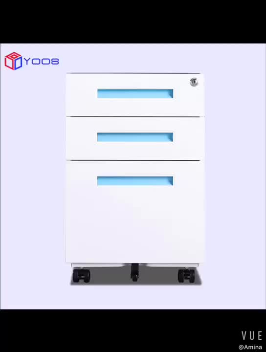 factory wholesale metal movable drawer file  cabinet