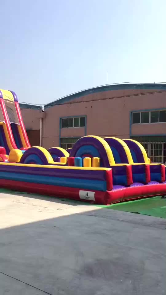 cheap  inflatable obstacle course for kids, unicorn inflatable play center for sale