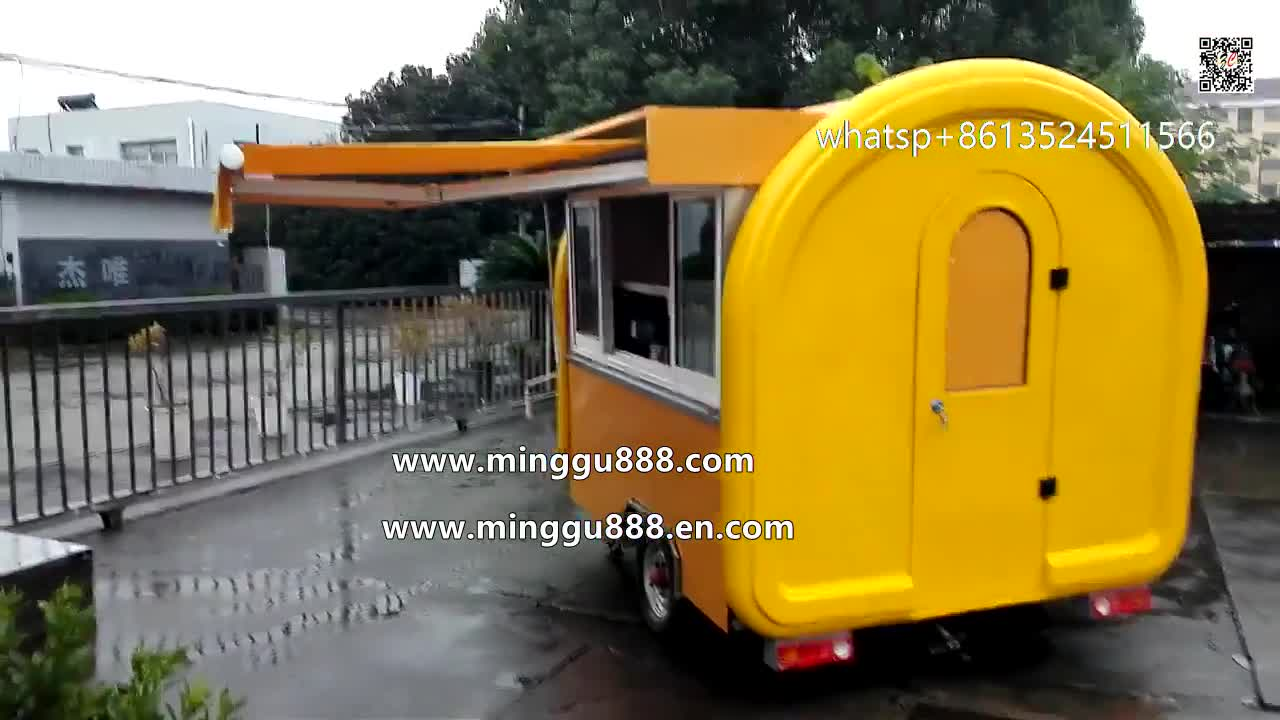 2019  Mobile crepe cart trailer kitchen ice cream food truck equipment Dog cart fast food truck for sale