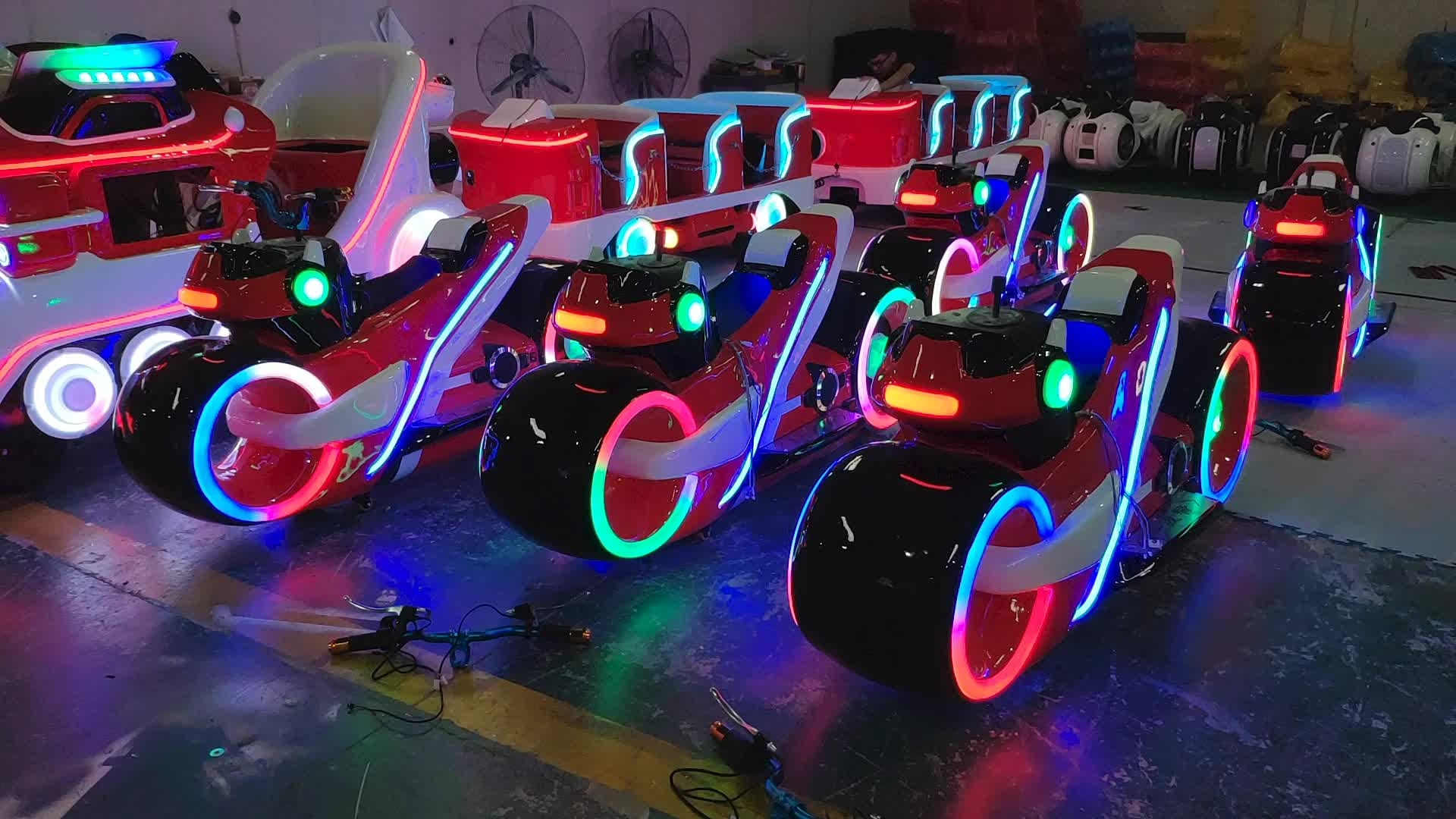 Hansel indoor and outdoor remote control battery operated amusement motorcycle electric for shopping mall
