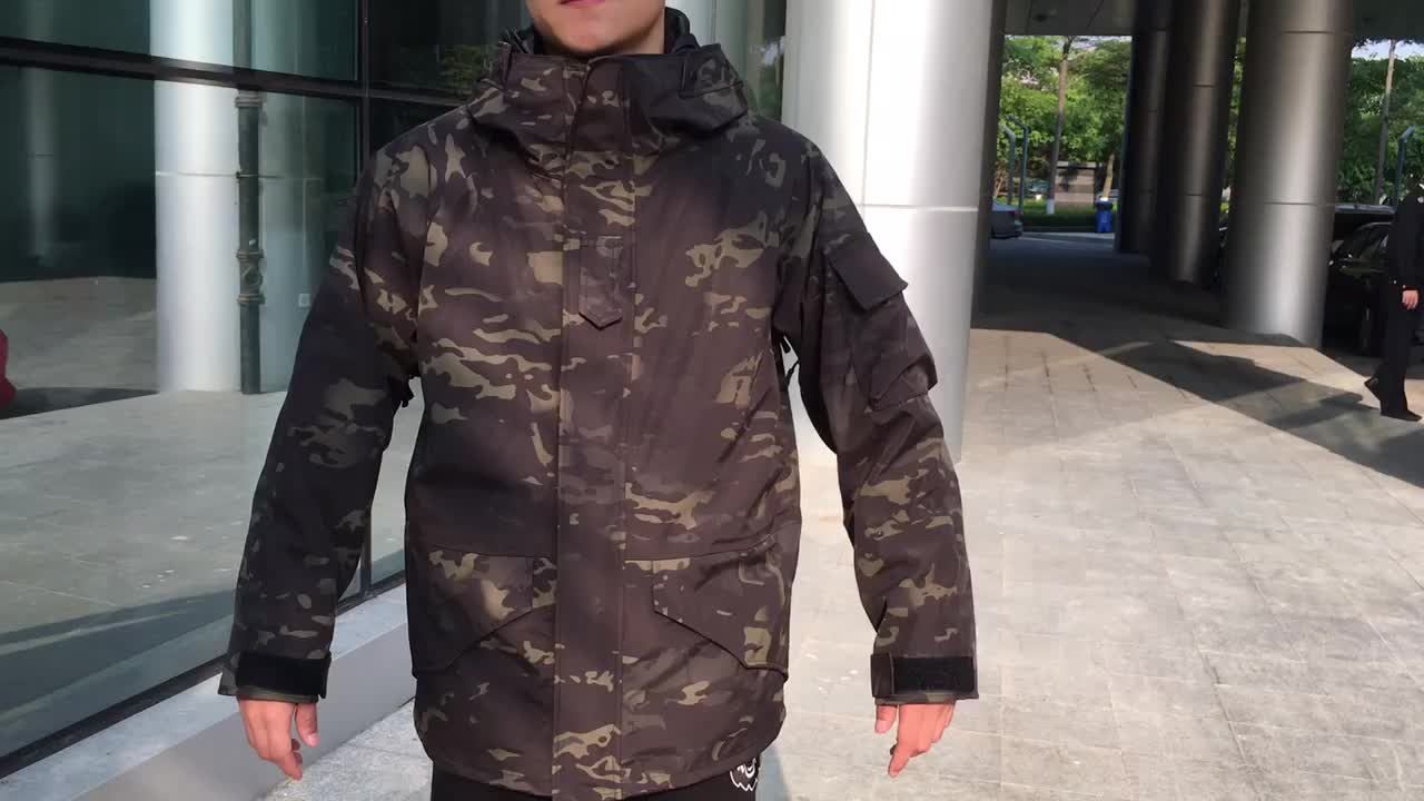 Nylon/Polyester  composite fabric military Waterproof Warm G8 Jacket Winter Tactical with Fleece customized Army Jacket