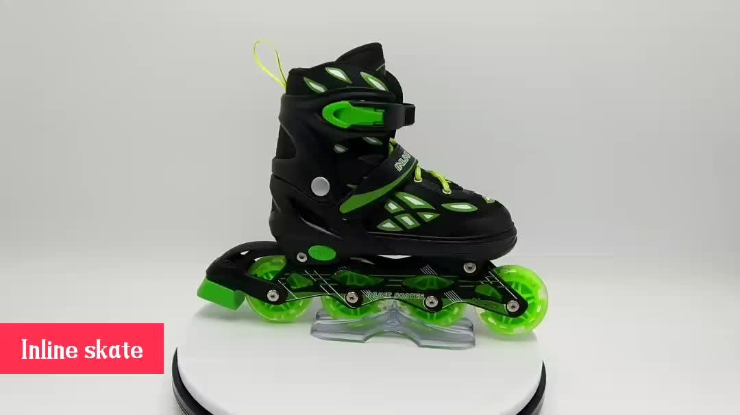2019 new design figure skate shoe kid adjustable inline skate professional kids 4 wheel aggressive inline skates