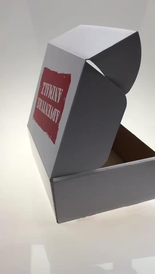 โลโก้ที่กำหนดเองพิมพ์ลูกฟูกกระดาษแข็งส่งจดหมายกล่อง
