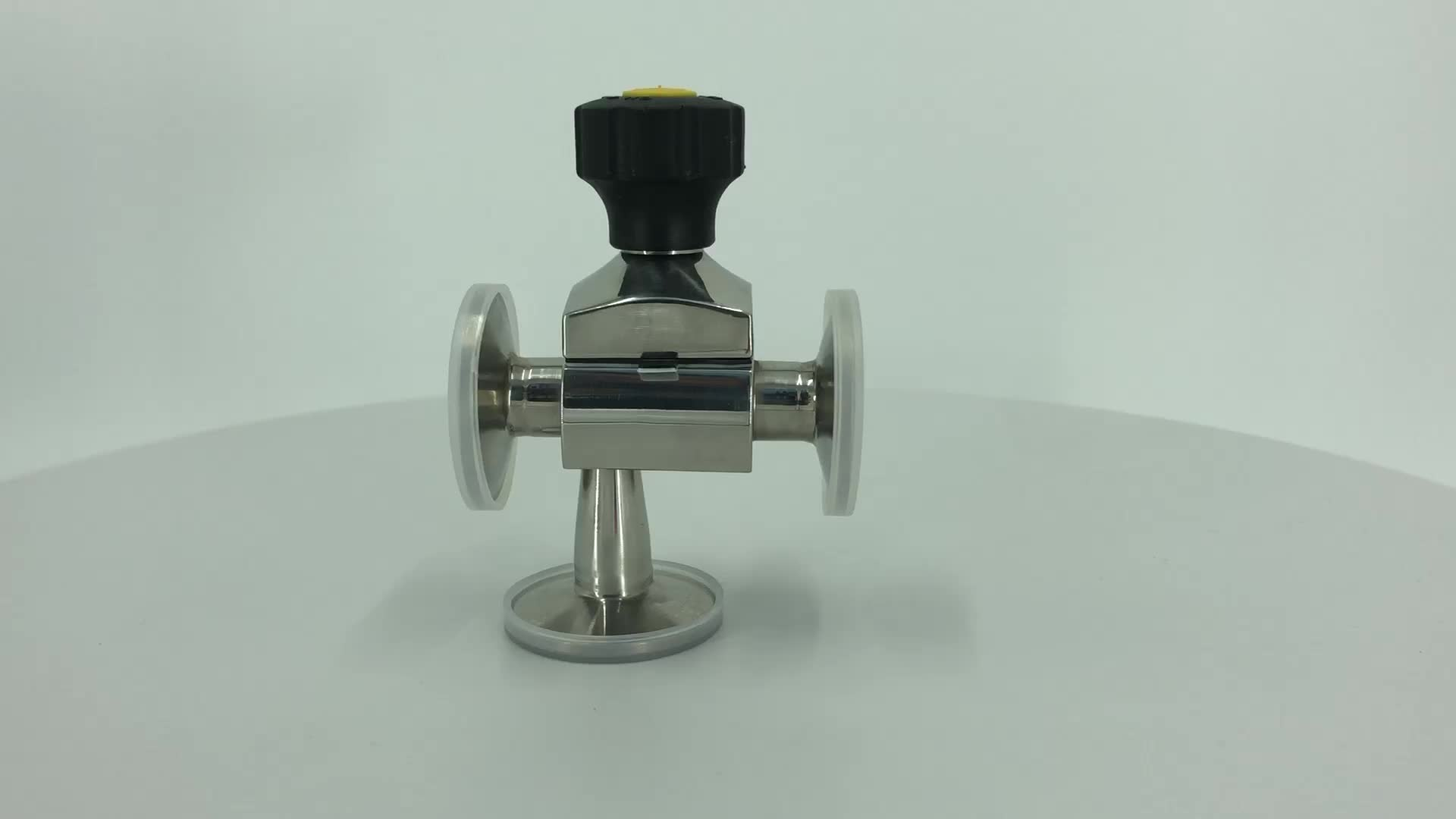 DONJOY SS316L manual stainless steel clamp diaphragm valve for cosmetic