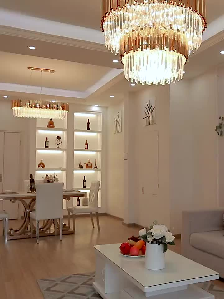 Wholesale modern restaurant decoration crystal wall lamps