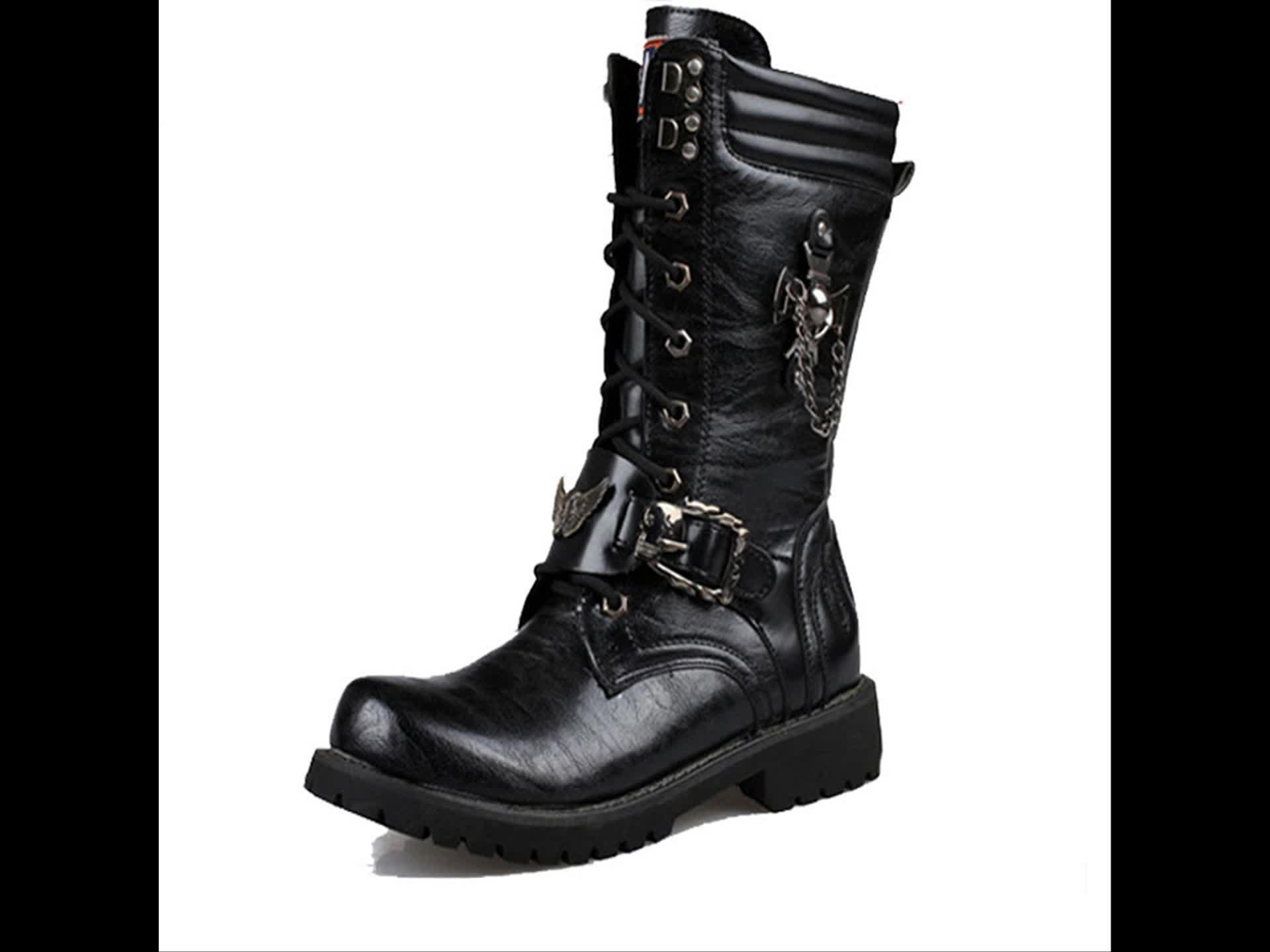 सर्दियों लंबे जूते अमेरिकी पश्चिमी चरवाहे जूते पुरुषों