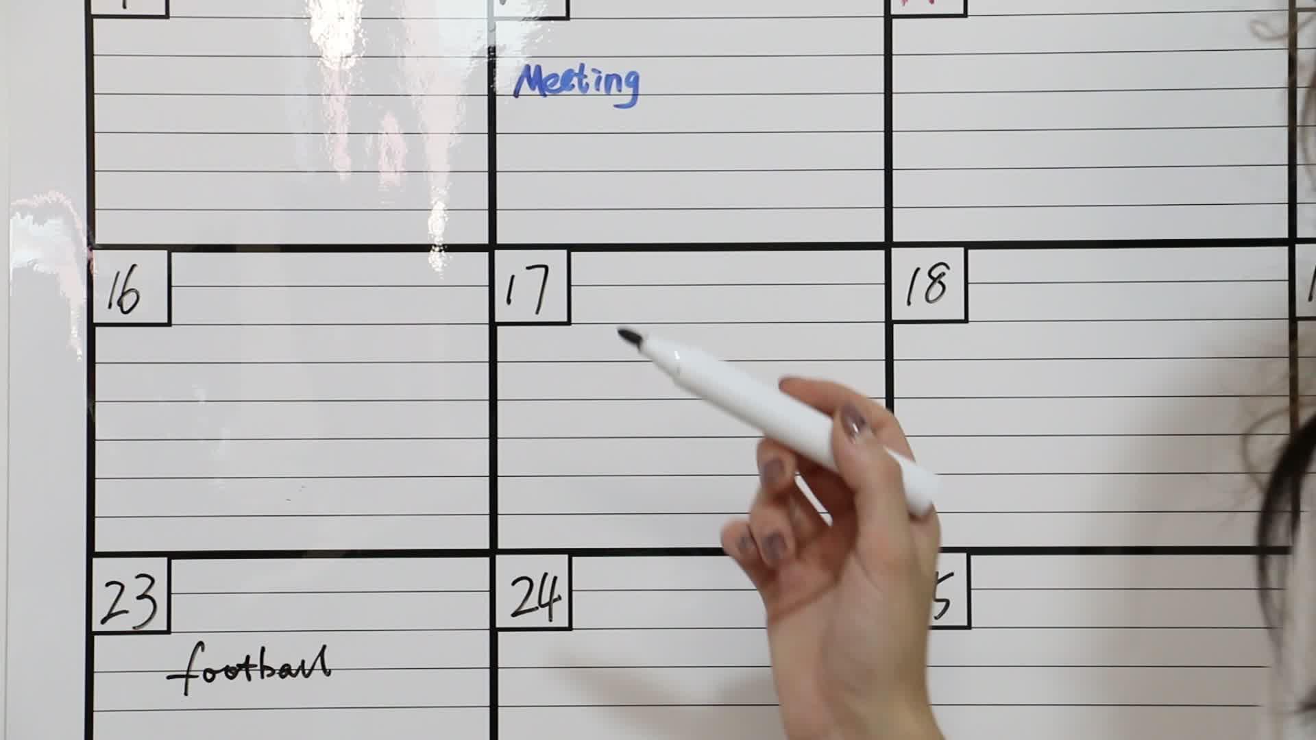 Custom Dry Erase Black board Weekly Calendar Magnetic Weekly  Planner for Fridge