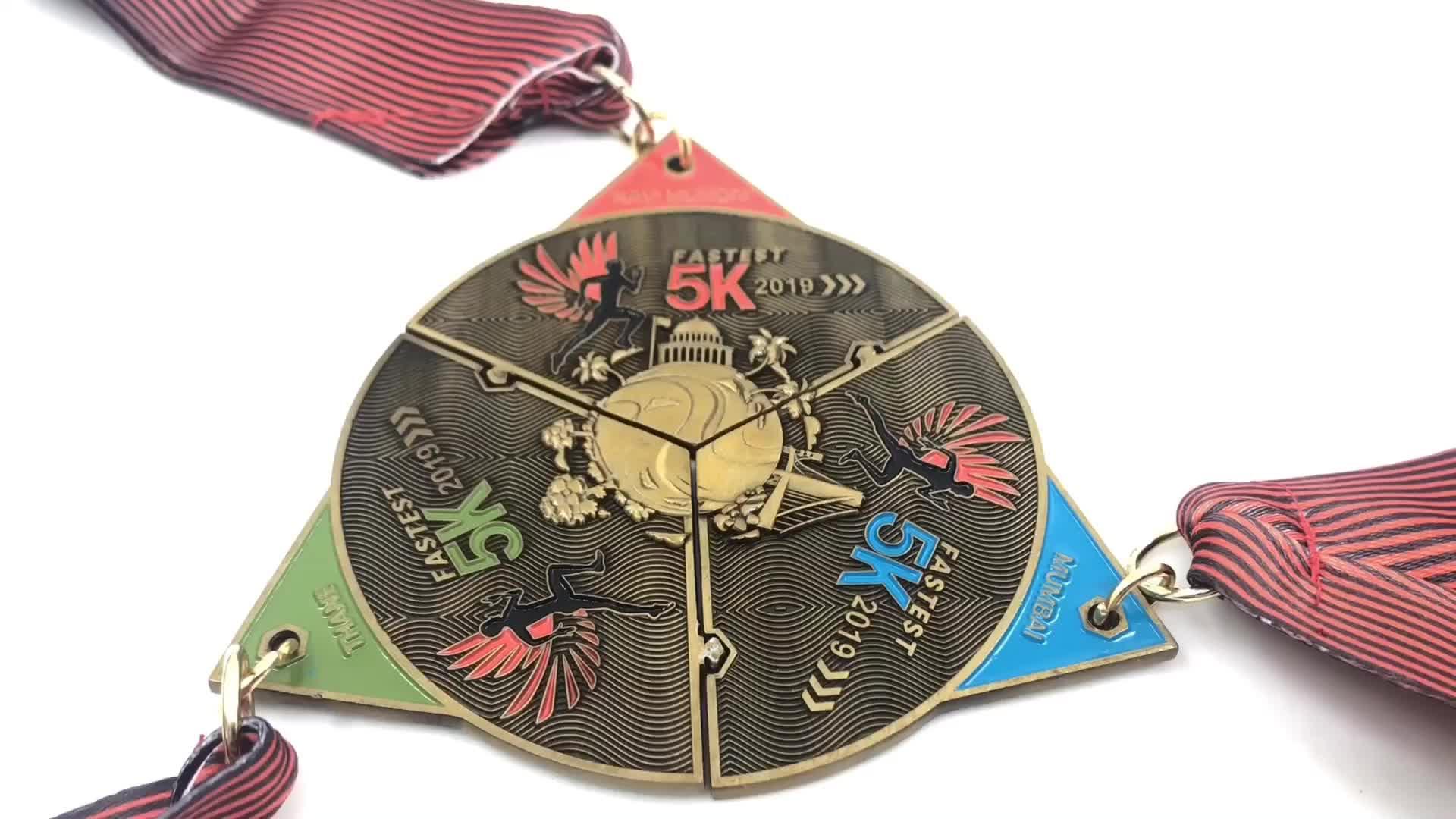 2020 novo prêmio personalizado barato atacado fundido metal medalha esportiva