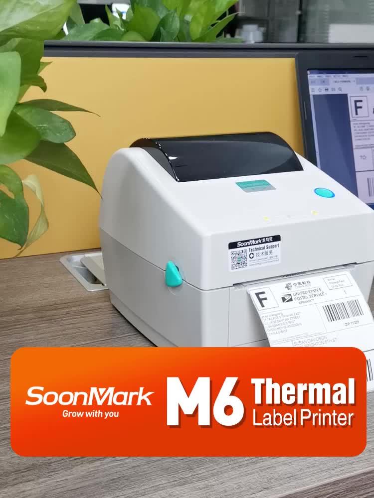 Soonmark ความเร็วสูง 4 นิ้ว USB เดสก์ท็อปโดยตรง Thermal Barcode สติกเกอร์การจัดส่งฉลากเครื่องพิมพ์ 4x6 ราคา Advantage
