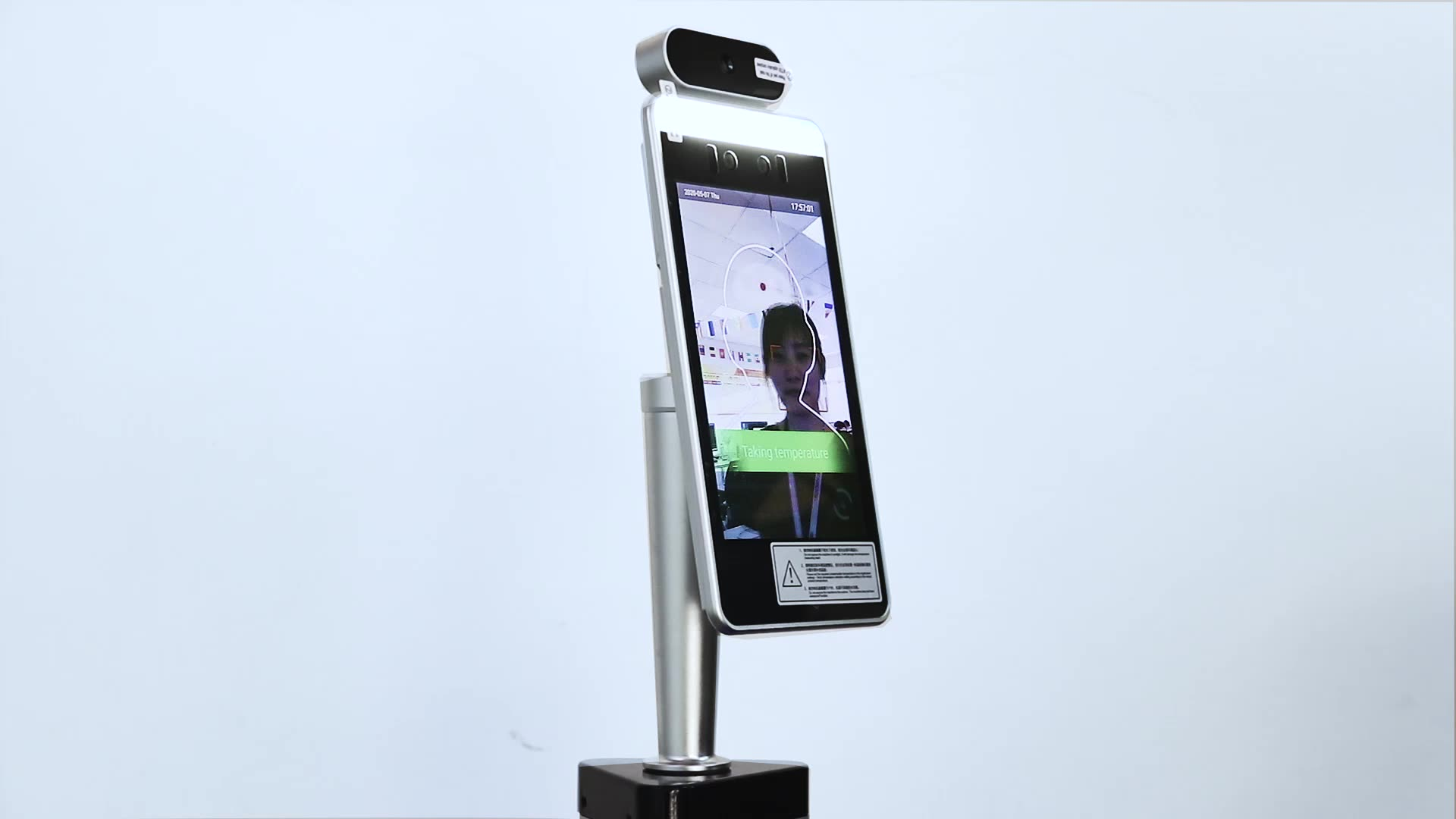 Automatic Fever Detection Face Recognition with Auto Hand Sanitizer Dispenser Stand
