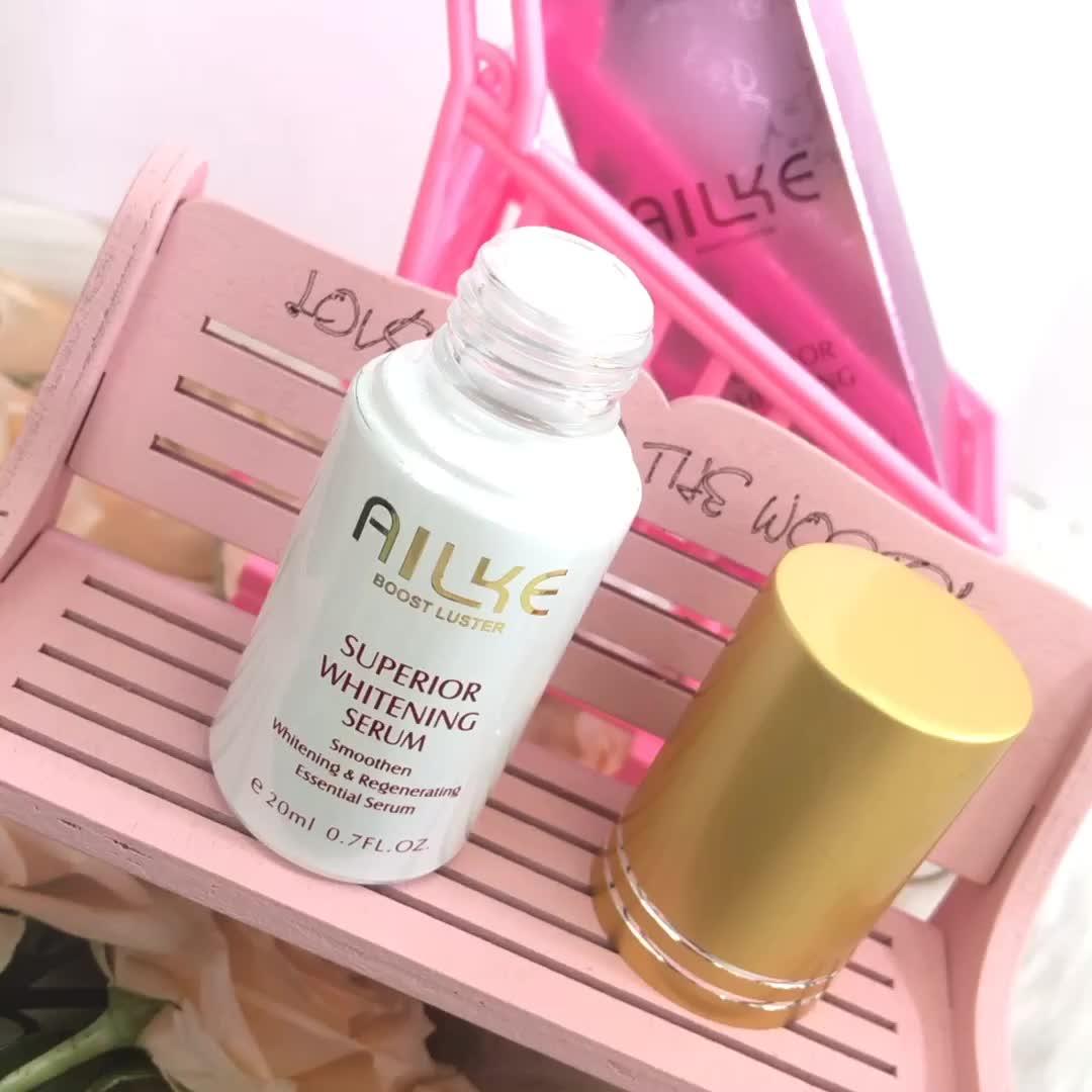 AILKE bán Hot & chất lượng cao làm trắng huyết thanh có thể kết hợp trong các kem để loại bỏ chỗ tối tàn nhang làm sáng da dầu