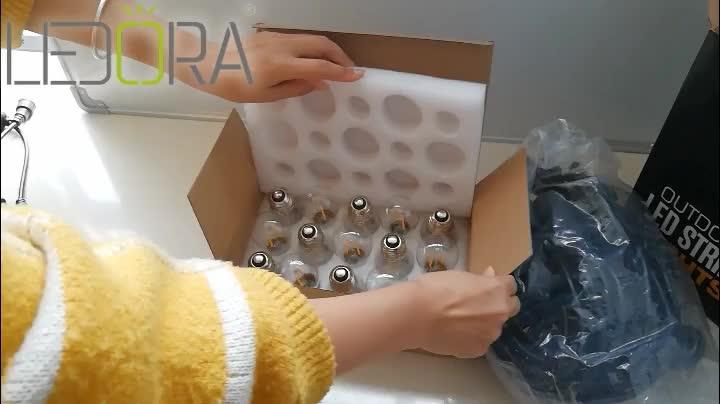חיצוני LED מסחרי מחרוזת אור עם בציר אדיסון S14 LED נורות חג גן פאטיו חג המולד להשתמש