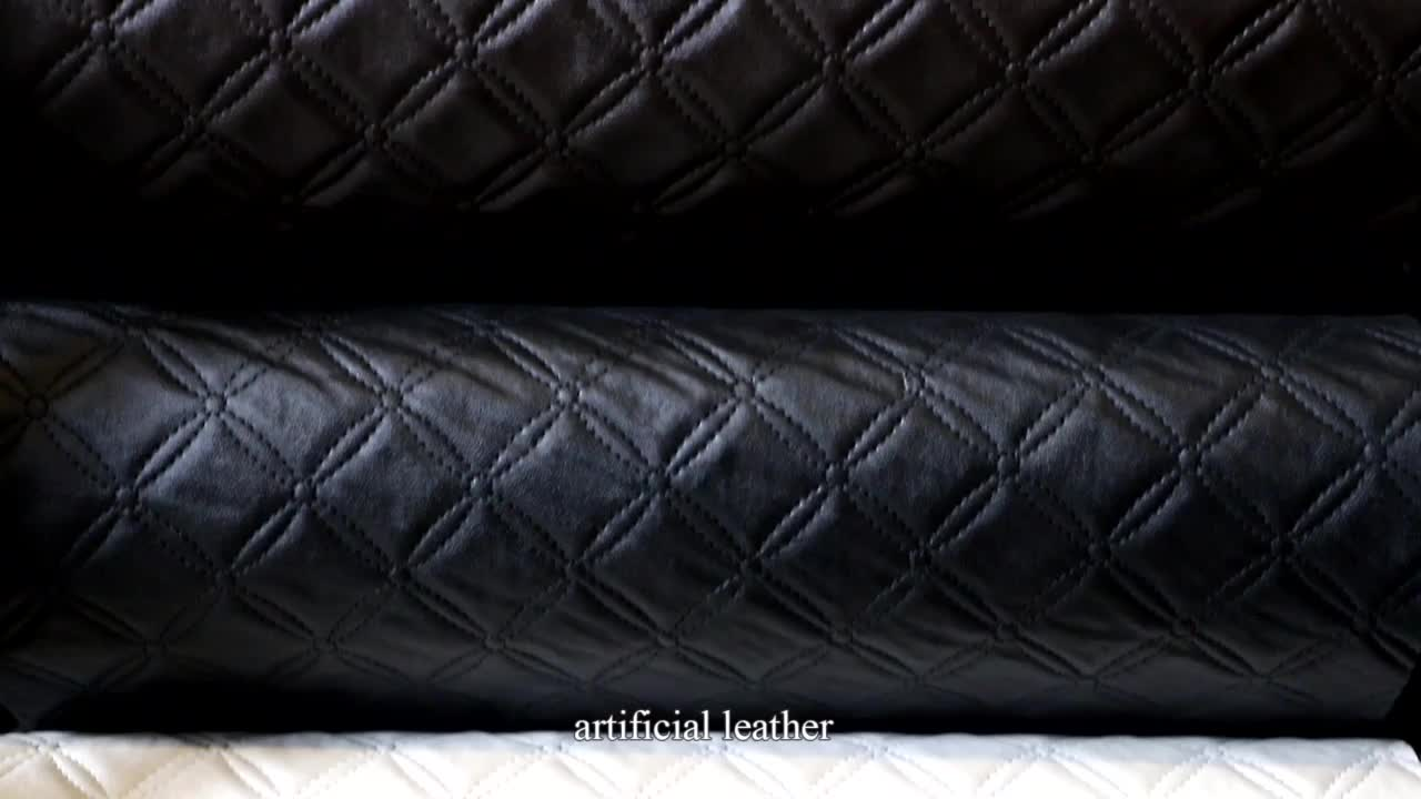 New Design Artificial Leather Fabric Eco-friendly Embossed Furniture PU PVC  Leather