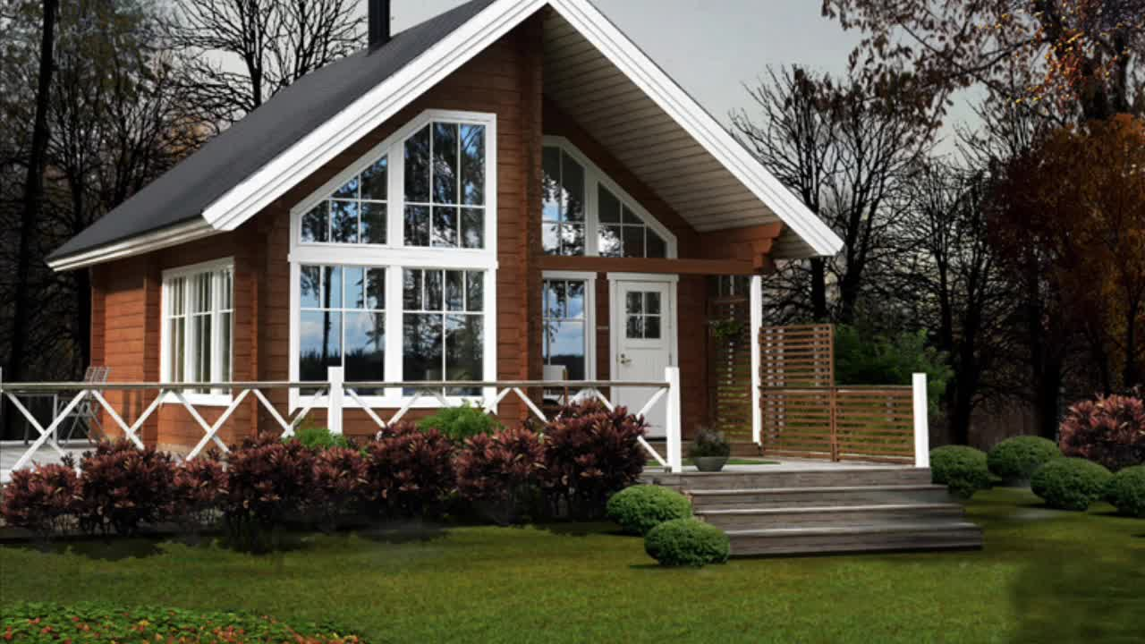wooden house log cabin USA house prefabricated