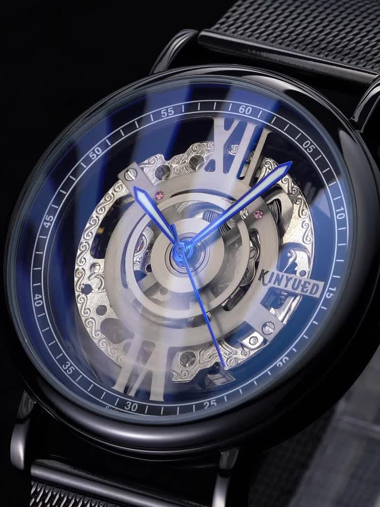 KINYUED 2020 new design tourbillon mechanical automatic movement mens watches in wristwatches