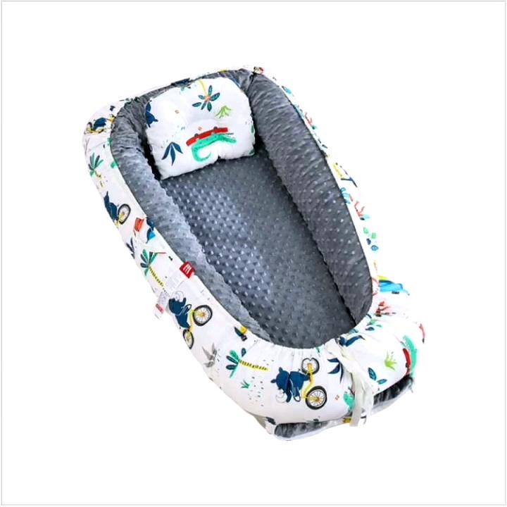 แบบพกพาเด็ก Nest นุ่มล้างทำความสะอาดได้เด็ก Bionic เตียง Nest ทารกผ้าฝ้าย 100% Breathable และ Hypoallergenic