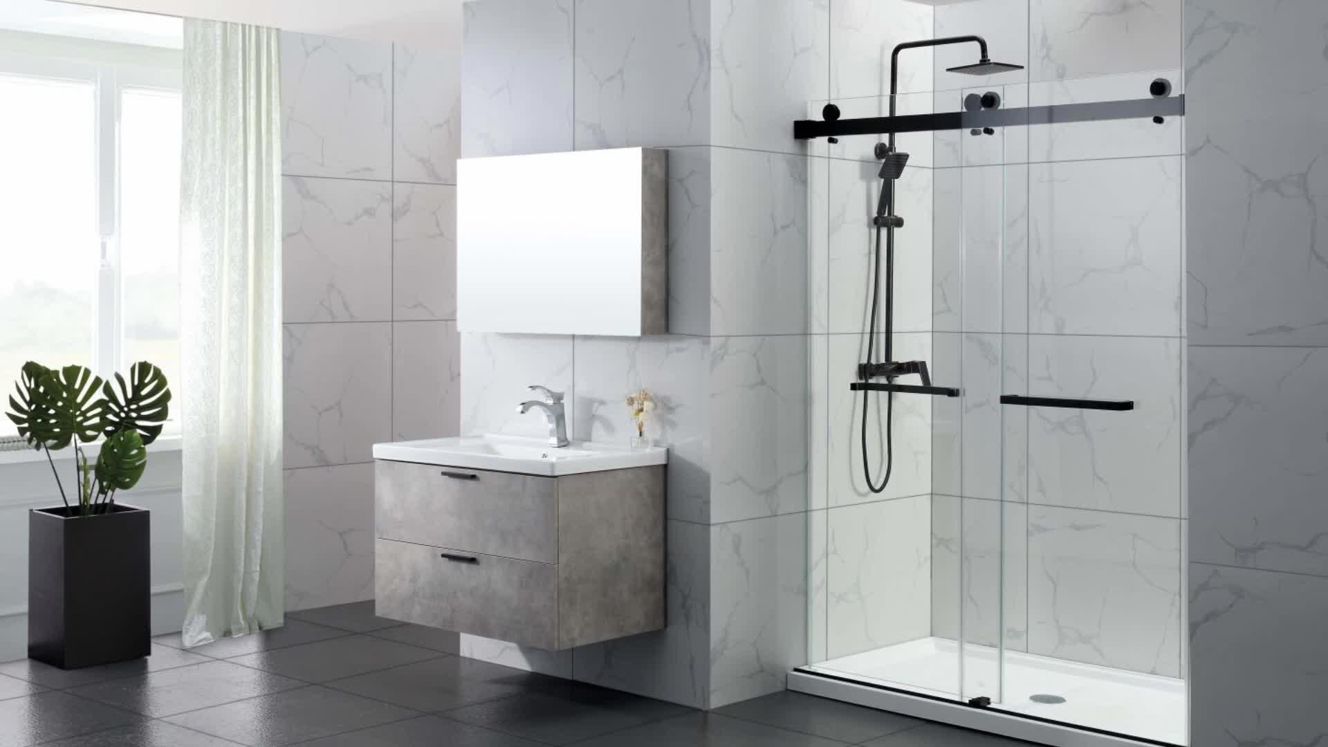 European Fiberglass Bathroom Shower Doors Frameless Home Use Factory Price Frameless Bathroom Glass Shower Door Buy Bathroom Glass Shower
