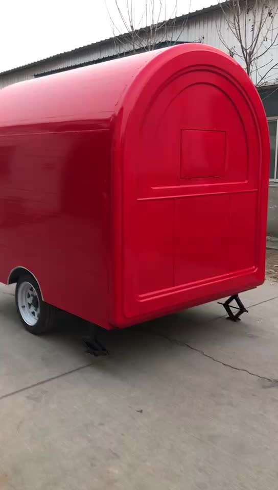 Mobile Restaurant Trailer/ fry Ice Cream Roll Trailer/ fast Food Carts For Selling Food Truck