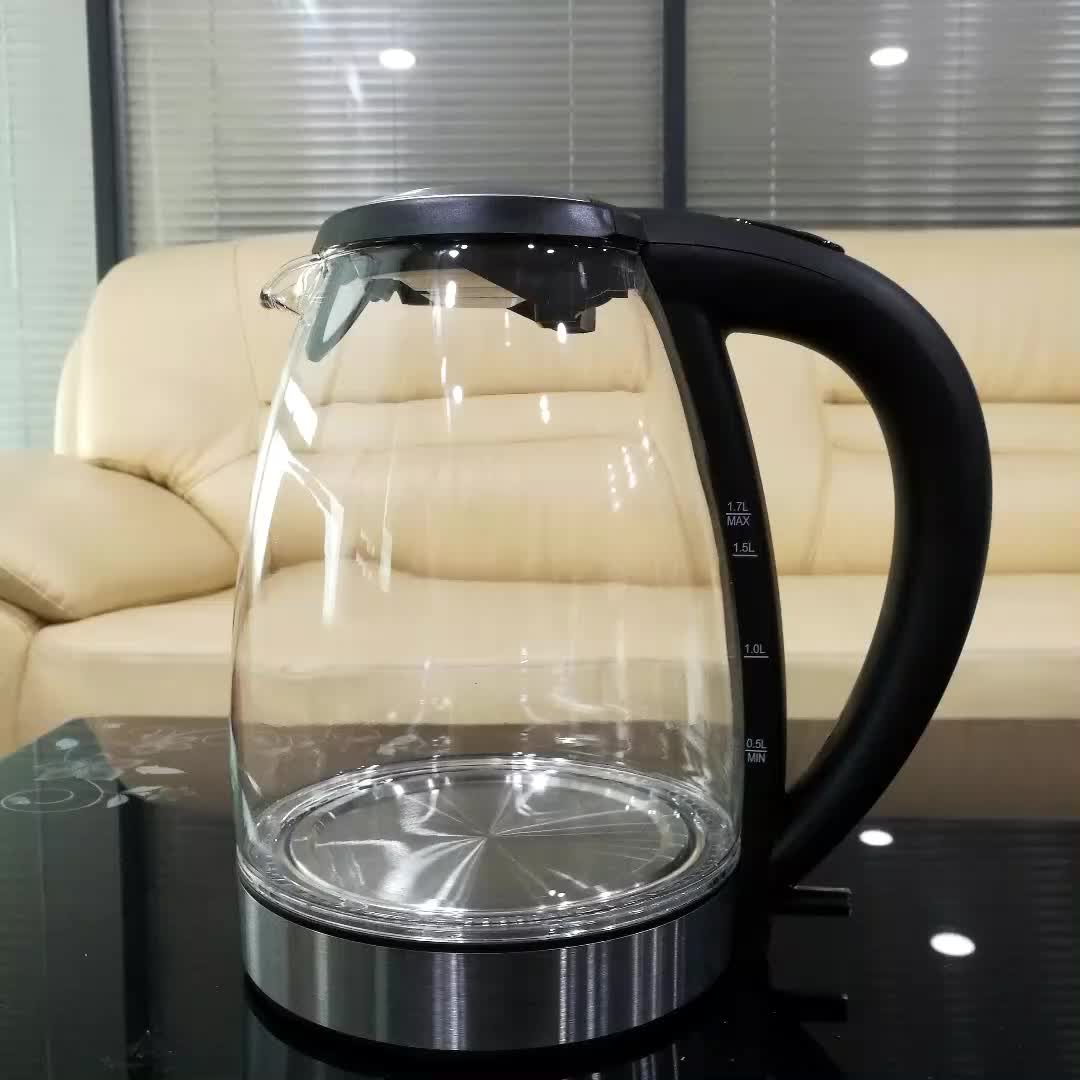 1.7L Kitchen Appliances Glass Electric Kettle FADA Controller Removable and washable filter Electric Kettle