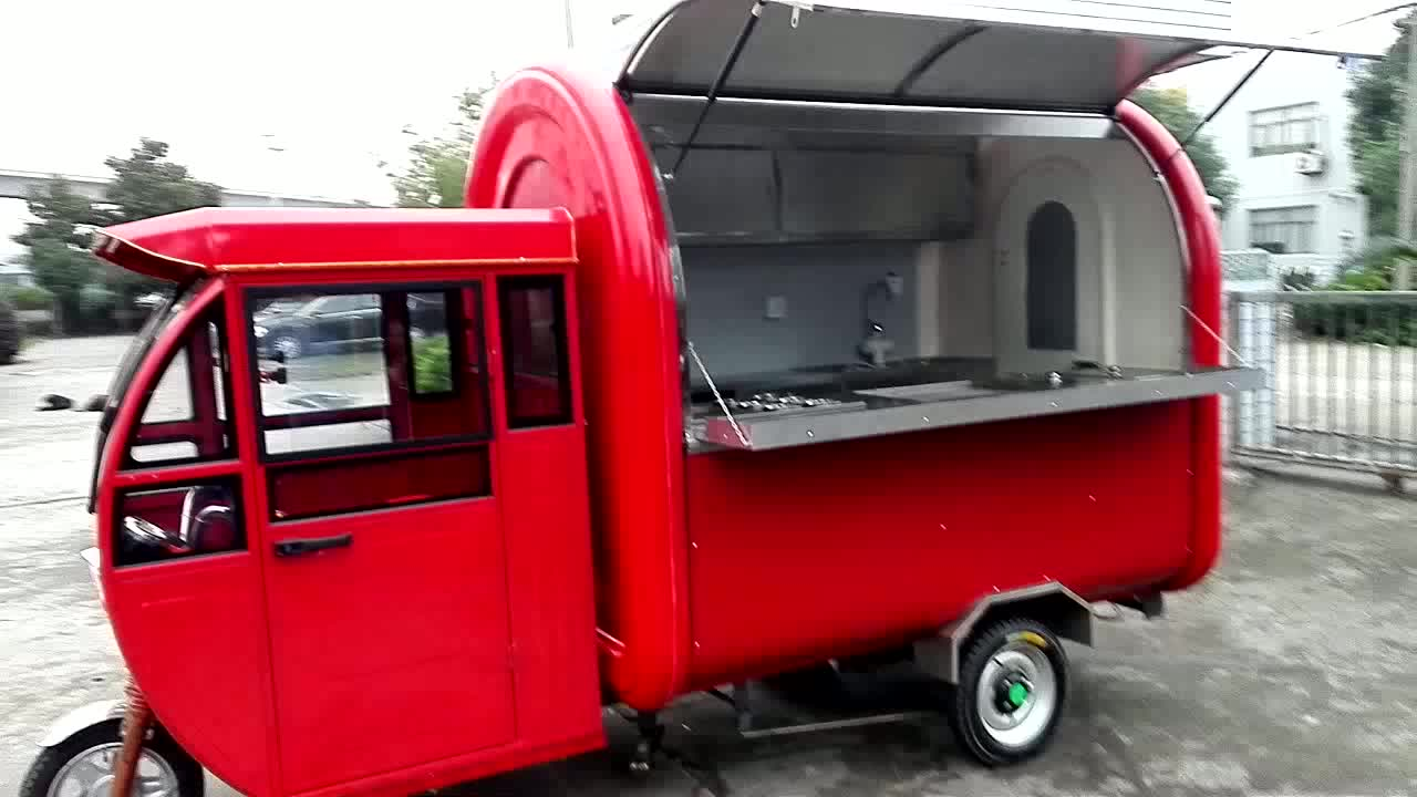 top brand mobile food truck food kiosk cart electric food truck
