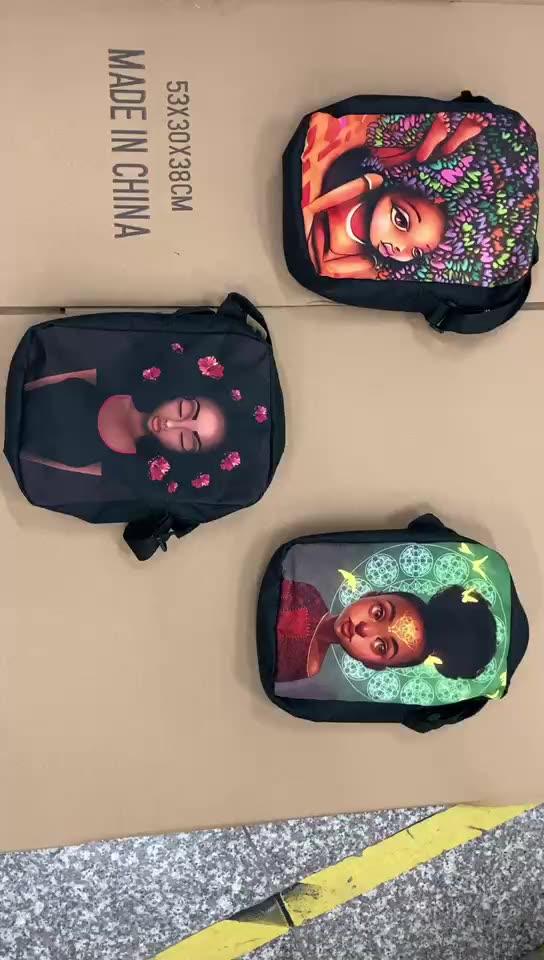 Afro Lady Girl Umhängetasche Africa Beauty Princess kleine Umhängetasche braune Frauen Handtasche Mini Totes Teenager Umhängetaschen
