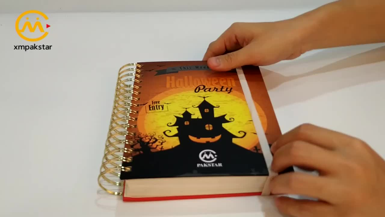China direct factory wholesale custom spiral binding planner hardcover notebook printing