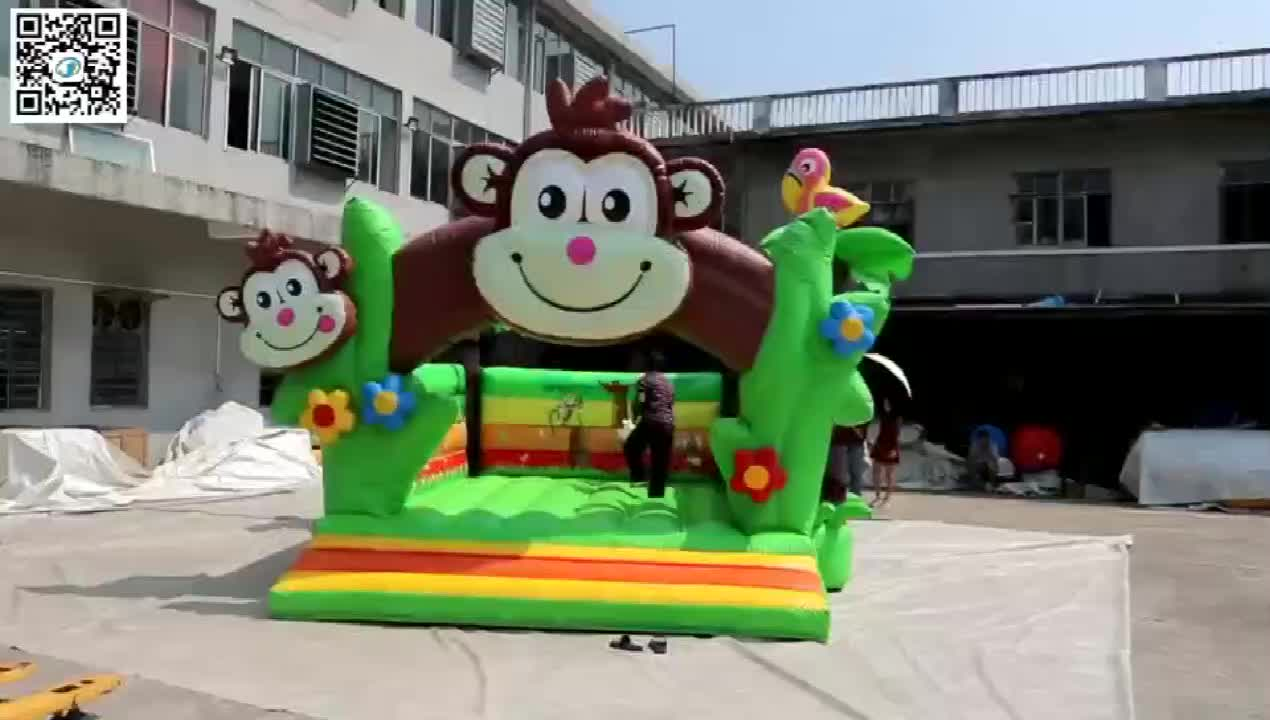 Inflatable Bouncy Jumping Castles Playground Bouncer Kids Air Jumper Monkey Castle For Party Rentals