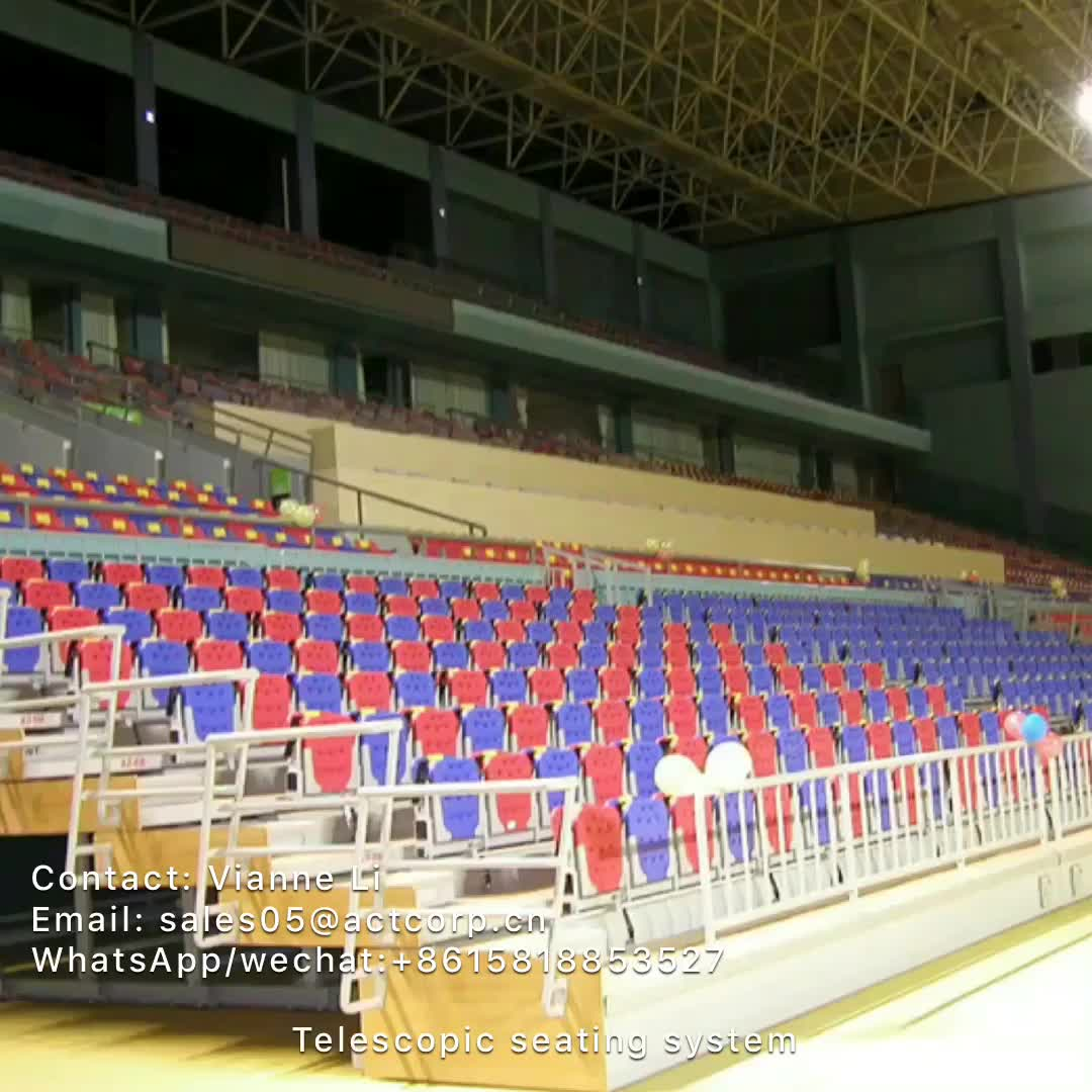 Multifunzione a scomparsa tribune posti a sedere per la scuola, automatico a scomparsa tribuna per la ginnastica