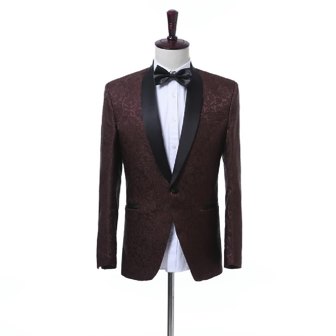 Wholesale Custom Processional Men Business Suit Slim Fit Grooms Wedding Suit